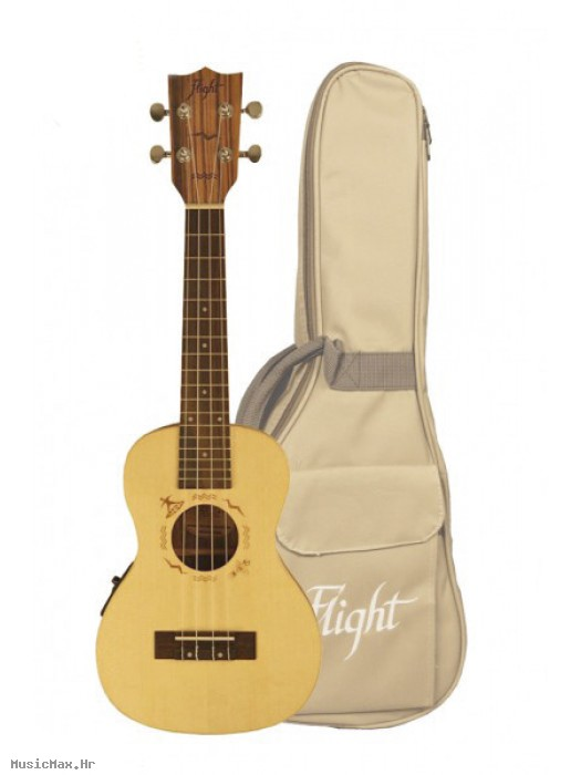 FLIGHT DUC525CEQ SP/ZEB KONCERT UKULELE