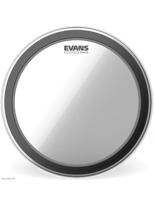 EVANS EMAD CLEAR BASS DRUM 22