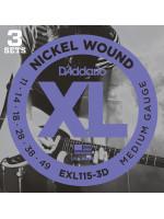 DADDARIO EXL115-3D ŽICE 3-PACK 11-49