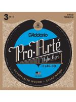 DADDARIO EJ46-3D 3 PACK SET HARD 29-44 žice za klasičnu gitaru