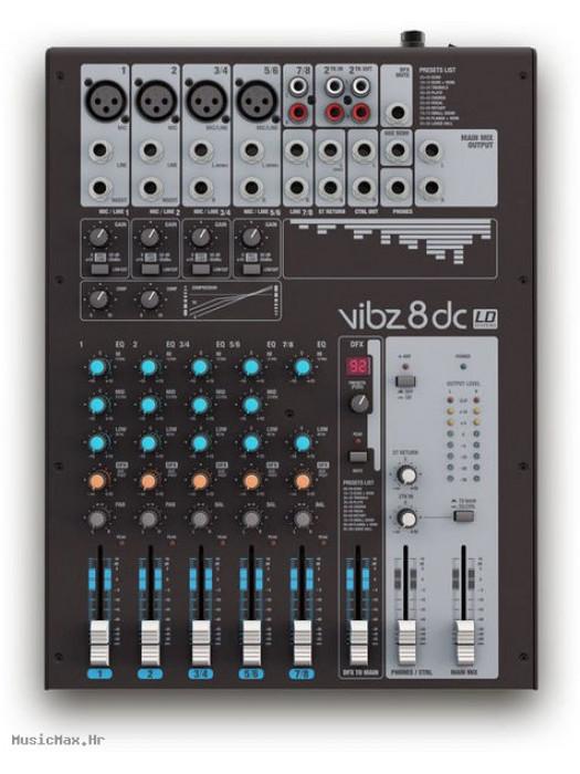 LD SYSTEMS VIBZ 8 DC DFX miks pult