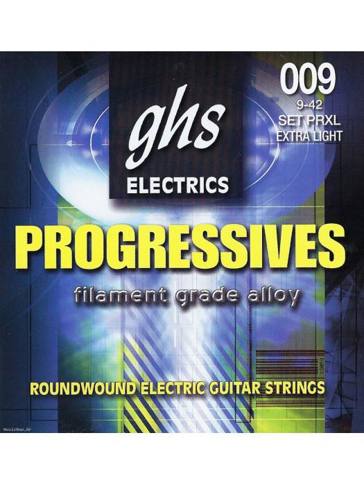 GHS PRXL -PROGRESS. ELECTRIC GUITAR STRINGS 9-42