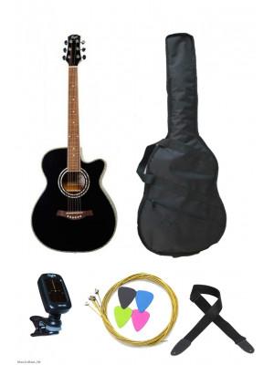 FLIGHT F-230 BLK akustična gitara - komplet