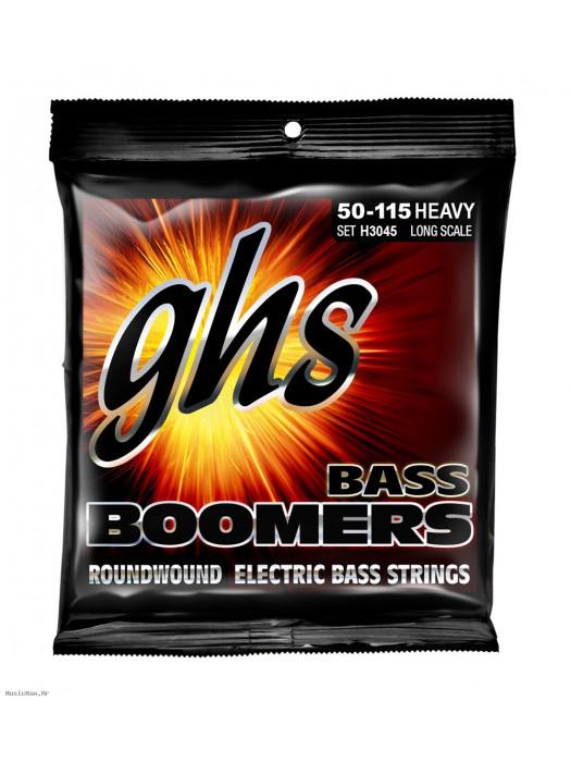 GHS H3045 BASS GUITAR STRINGS HEAVY 50-115