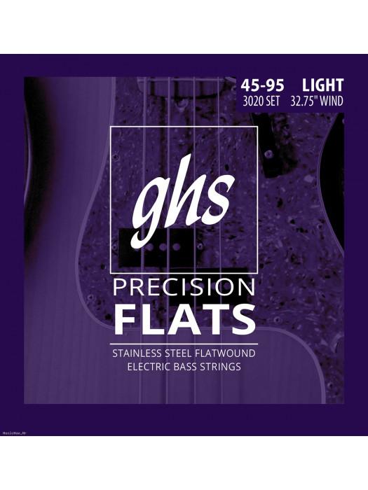 GHS 3020 -ŽICE ZA BAS GITARU. PRECISION FLATS. 045-095