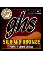 GHS 370-12L SILK & BRONZE STRINGS ACOUSTIC 11-49