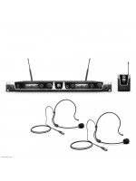 LD SYSTEMS U506 BPH 2 WIRELESS MICROPHONE SYSTEM WITH 2 X BODYPACK AND 2 X HEADS