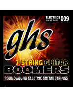 GHS GB7L - 7-STRING ELECTRIC BOOMERS, ROUNDWOUND NICKEL PLATED, .011 - .064
