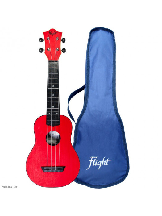 FLIGHT TUS35RD TRAVEL UKULELE SOPRAN CRVENA