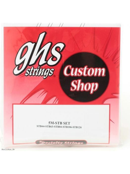GHS 5M-STB BASS STRINGS SUPER STEELS 44-126
