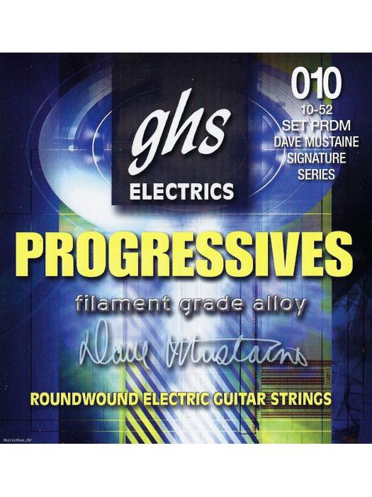 GHS PRDM STRINGS FOR ELECTRIC GUITAR 010-052