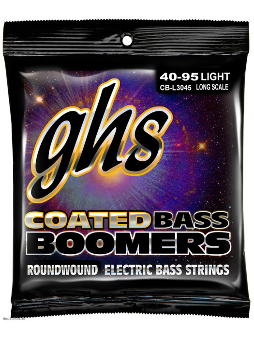 GHS CB-L3045 - BASS STRINGS, COATED BOOMERS, ROUNDWOUND NICKEL-PLATED STEEL