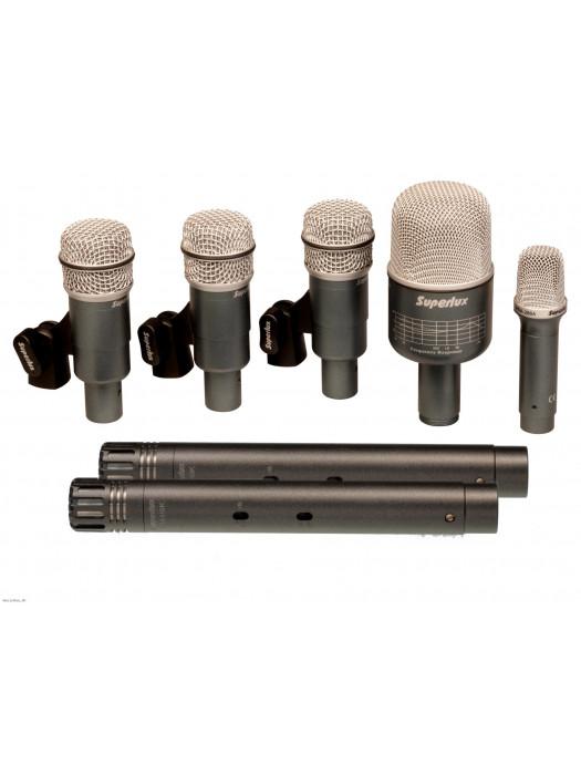 SUPERLUX DRKB5C2MKII 7 Set Drum Microphone Set