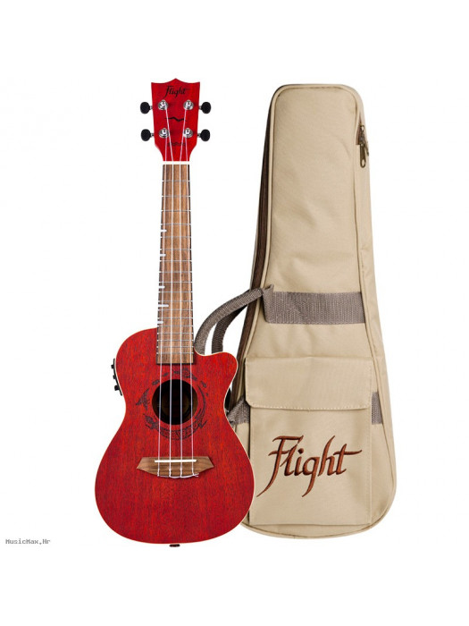 FLIGHT DUC380 CEQ Coral koncert ukulele s torbom