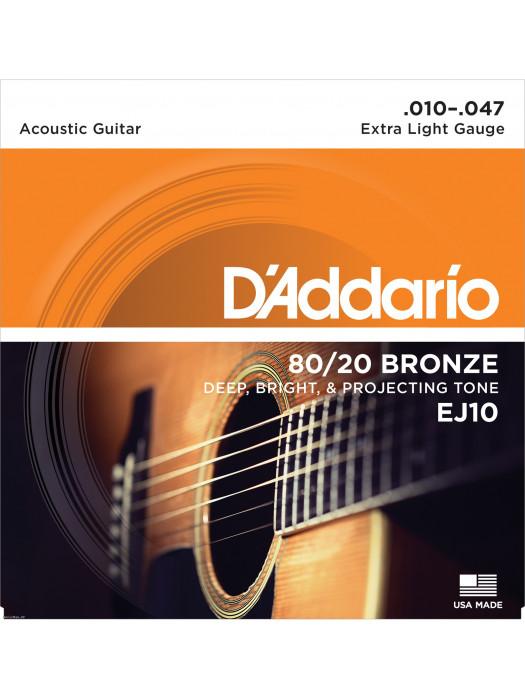 DADDARIO EJ10 10-47 žice za akustičnu gitaru