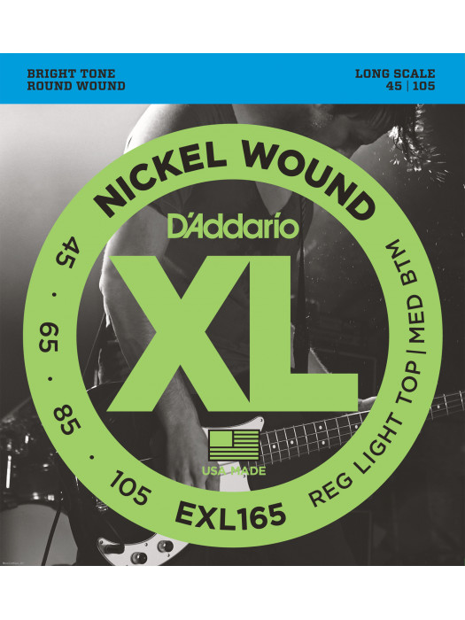 DADDARIO EXL165 45-105 žice za bas gitaru