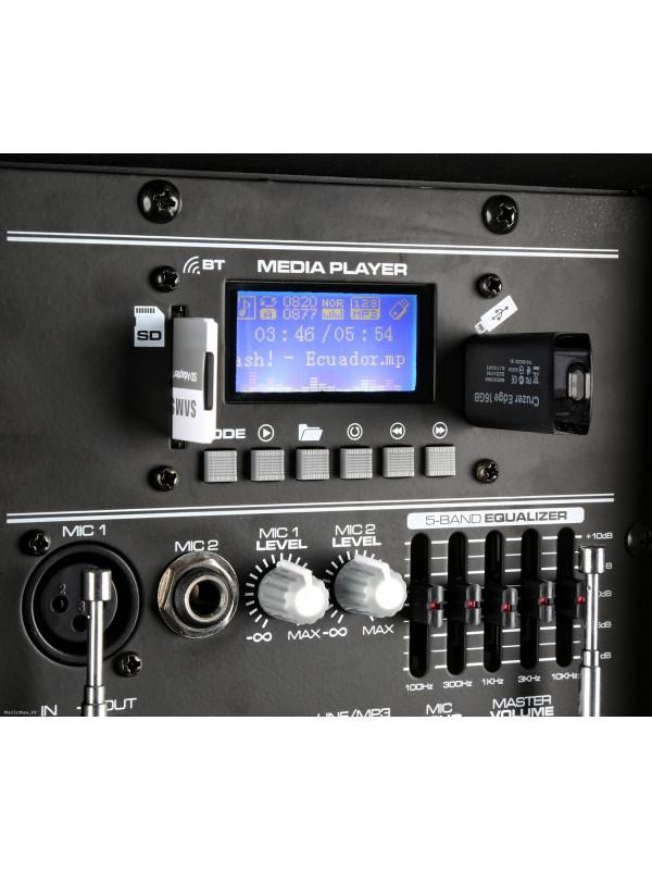 VONYX AP1200PA PORTABLE SOUND SYSTEM12 BT, UHF M+BP