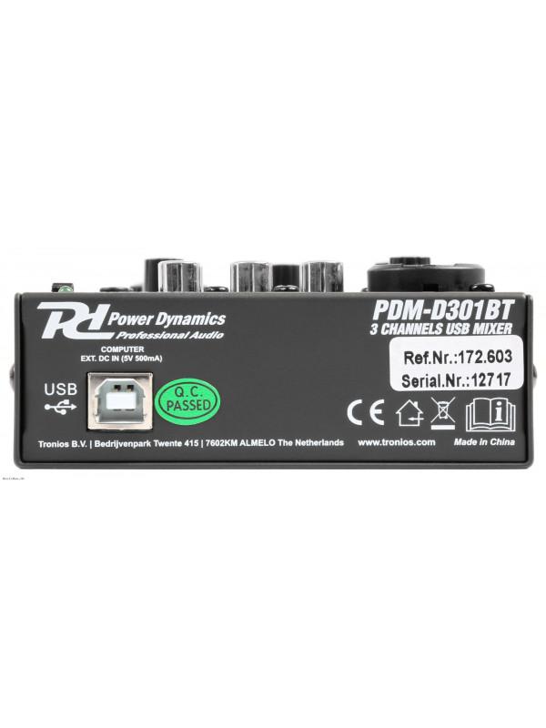 POWER DYNAMICS PDM-D301BT EQ USB BT mikseta