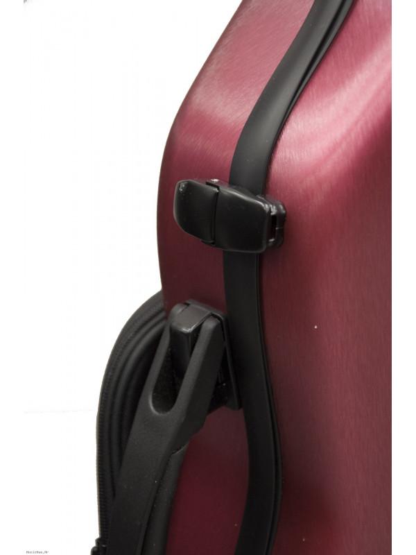 MAXTON MVC-8 VIOLIN CASE 4/4 CARBON METAL RED