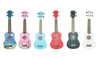 Veston obojene ukulele